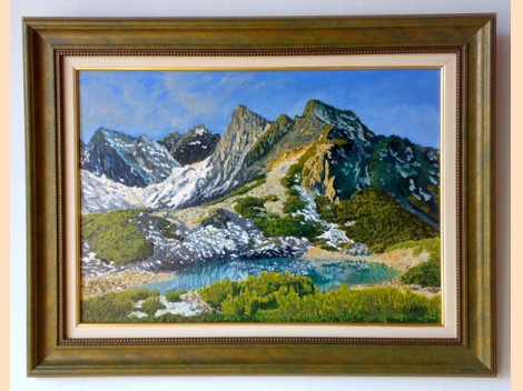 Pirin mountain - Sinanitsa Lake - Oil painting