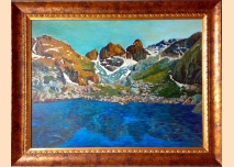 Rila mountain - Scary Lake /sunset/ - Oil painting