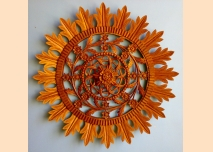 Wood-carved rosette