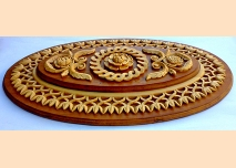 Wood carving for ceiling decoration